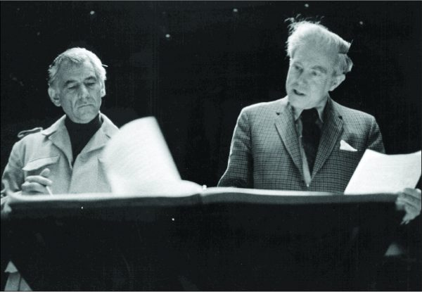 Carter with Leonard Bernstein, 1970