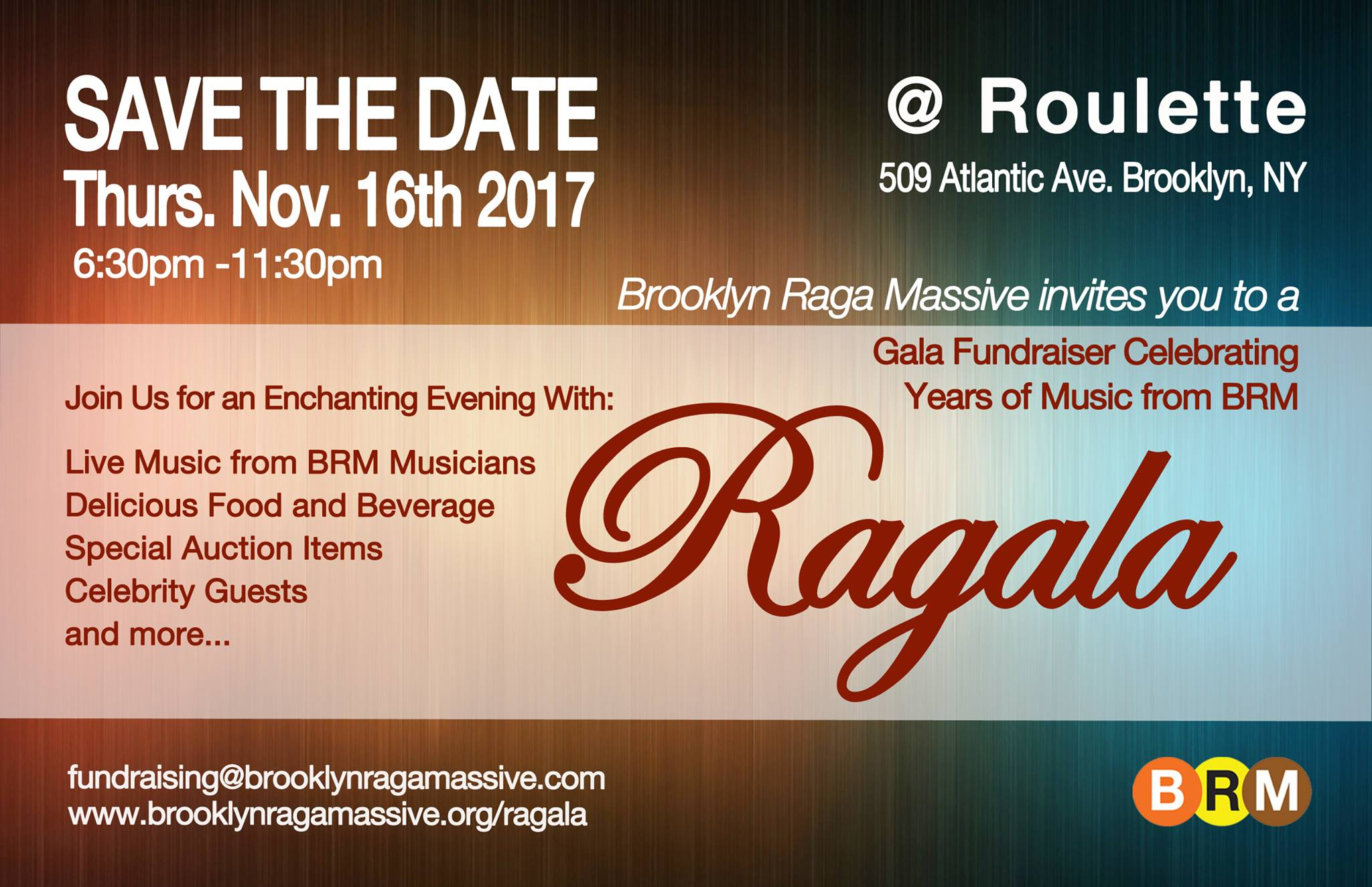Image for The Ragala – A Fundraising Gala for BRM