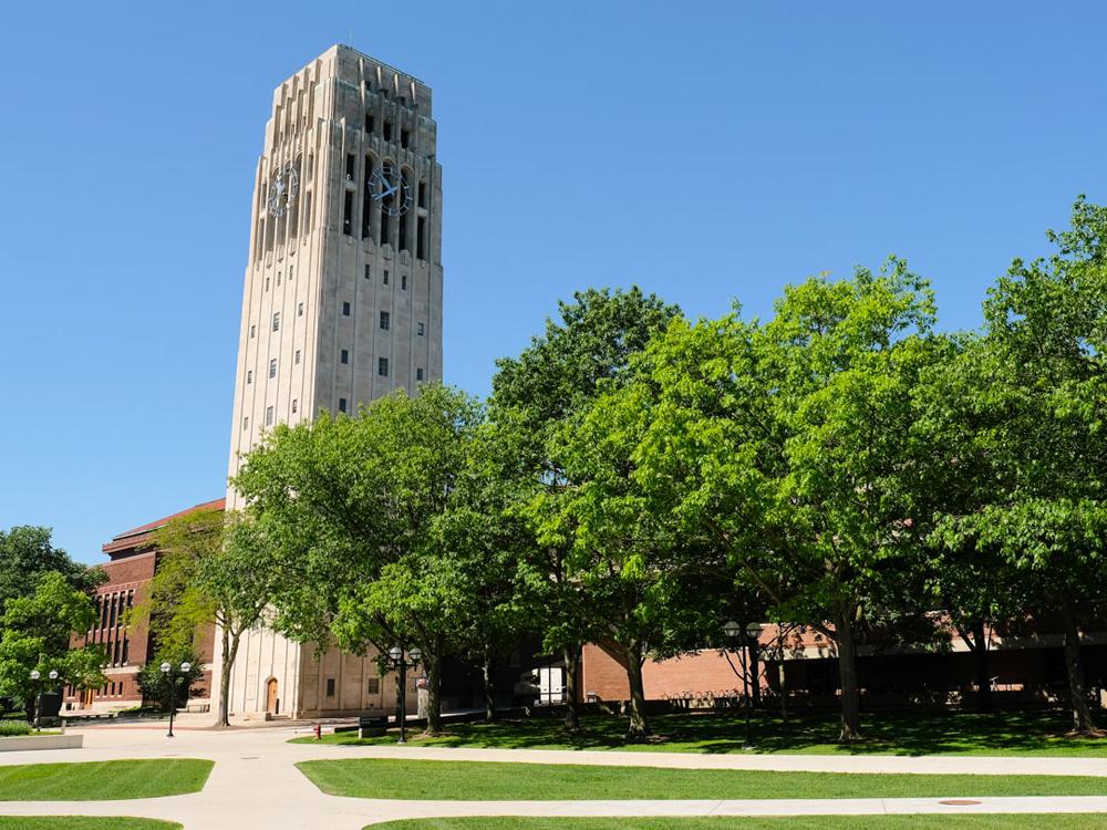 The carillon at Burton Tower, University of Michigan
