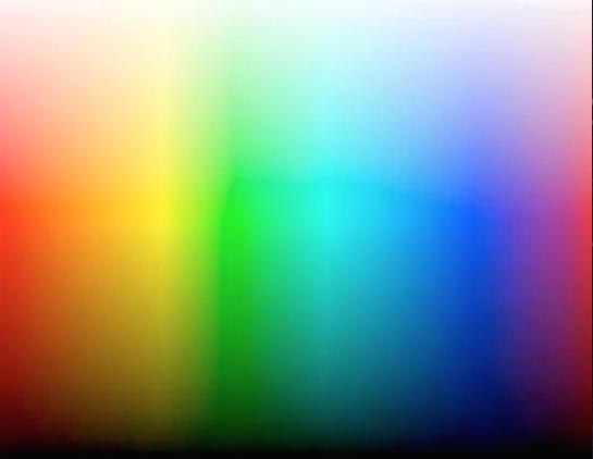 A polychromatic gradient