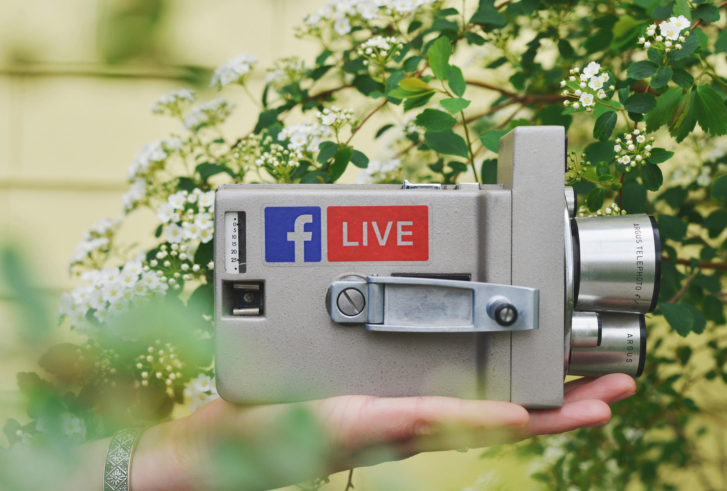 Facebook Live sticker on camera