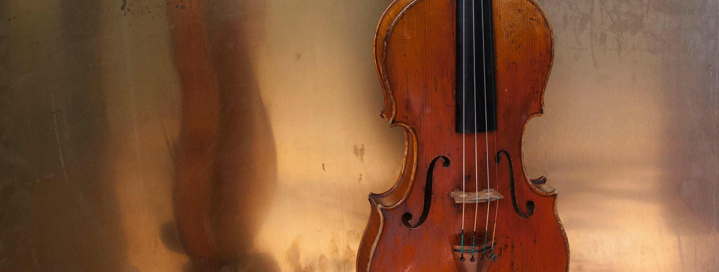Violin in metal