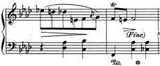 Typical ending spot for Op. 68, No. 4