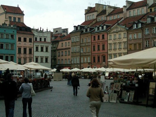 At the main square in Warsaw's