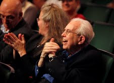 Elliott Carter Applauds his Birthday Concert