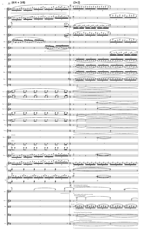Michael R. Holloway Orchestral Score Excerpt