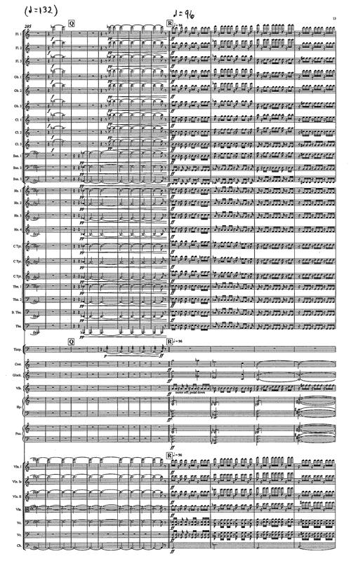 Hannah Lash Orchestral Score Excerpt