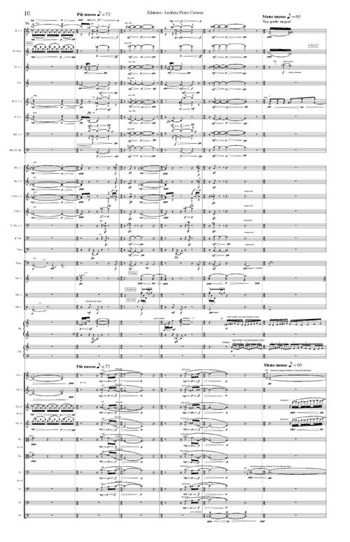 Andreia Pinto-Correia Orchestral Score Excerpt