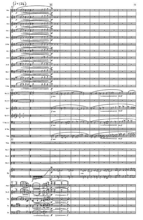 Shen Yiwen Orchestral Score Excerpt