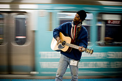 Busking, by sierraromeo on Flickr
