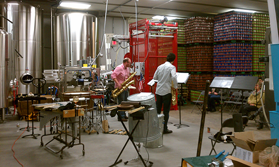 Michael Hertel, Sunil Gadgil, and lots of cans.