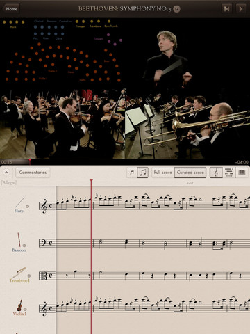 The Orchestra iPad app
