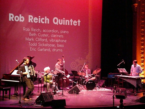 Rob Reich Quintet (with Beth Custer on bass clarinet)