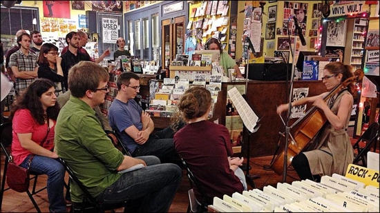 Cellist Ashley Walters Performing Andrew McIntosh's Another Secular Calvinist Creed at Horizon Records