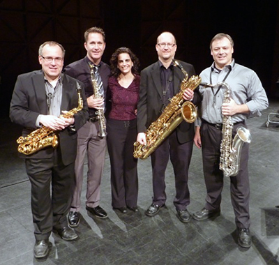 Garrop with the the Capitol Quartet after the premiere of Flight of Icarus March 2013