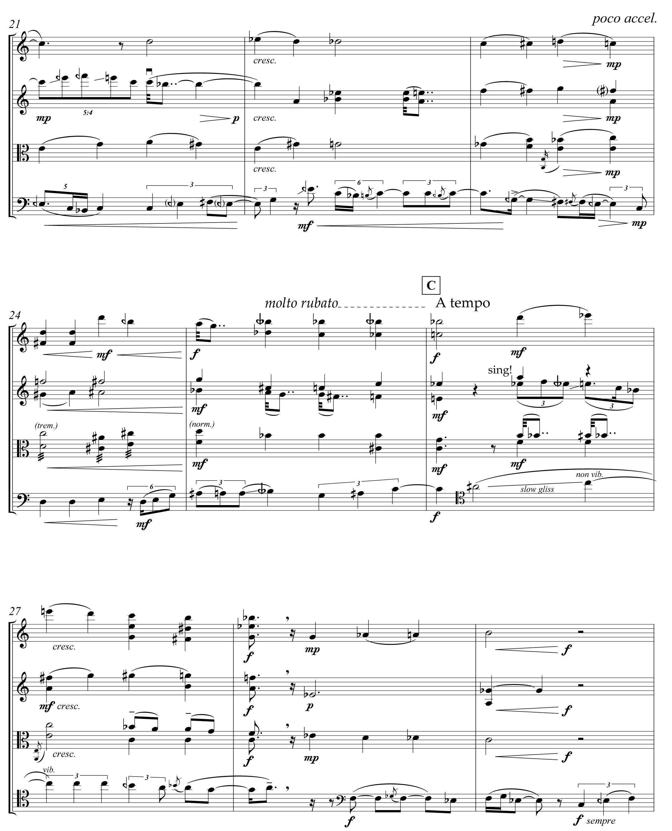 Bermel: String Quartet, page 5