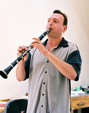 Bermel playing clarinet