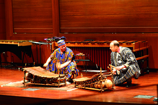 Bernard Woma & Bermel playing gyils