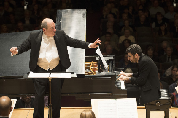 Robert Spano led the Boston Symphony and Jonathan Biss in the world premiere of a new Bernard Rands piece on 4.3.14 (Stu Rosner)3