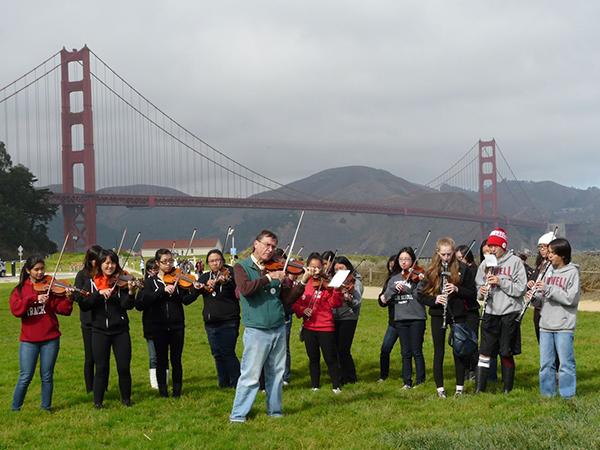 Lowell High School Orchestra, led by San Francisco Contemporary Music Players violinist Roy Malan