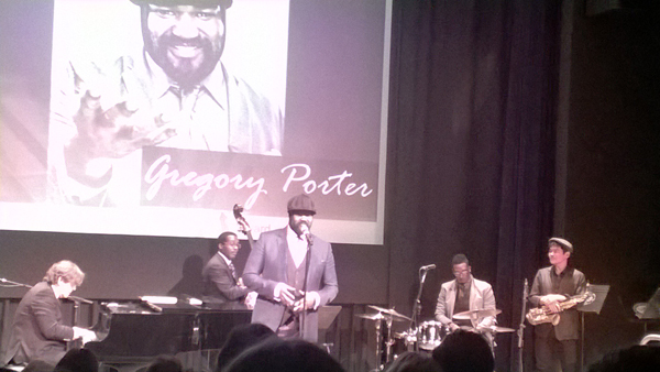 Gregory Porter and his group