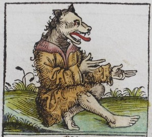 A cynocephalus, from the Nuremberg Chronicle (1493).