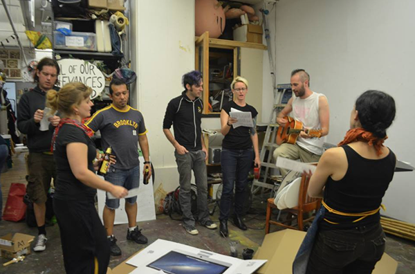 Carr working with Occupy musicians