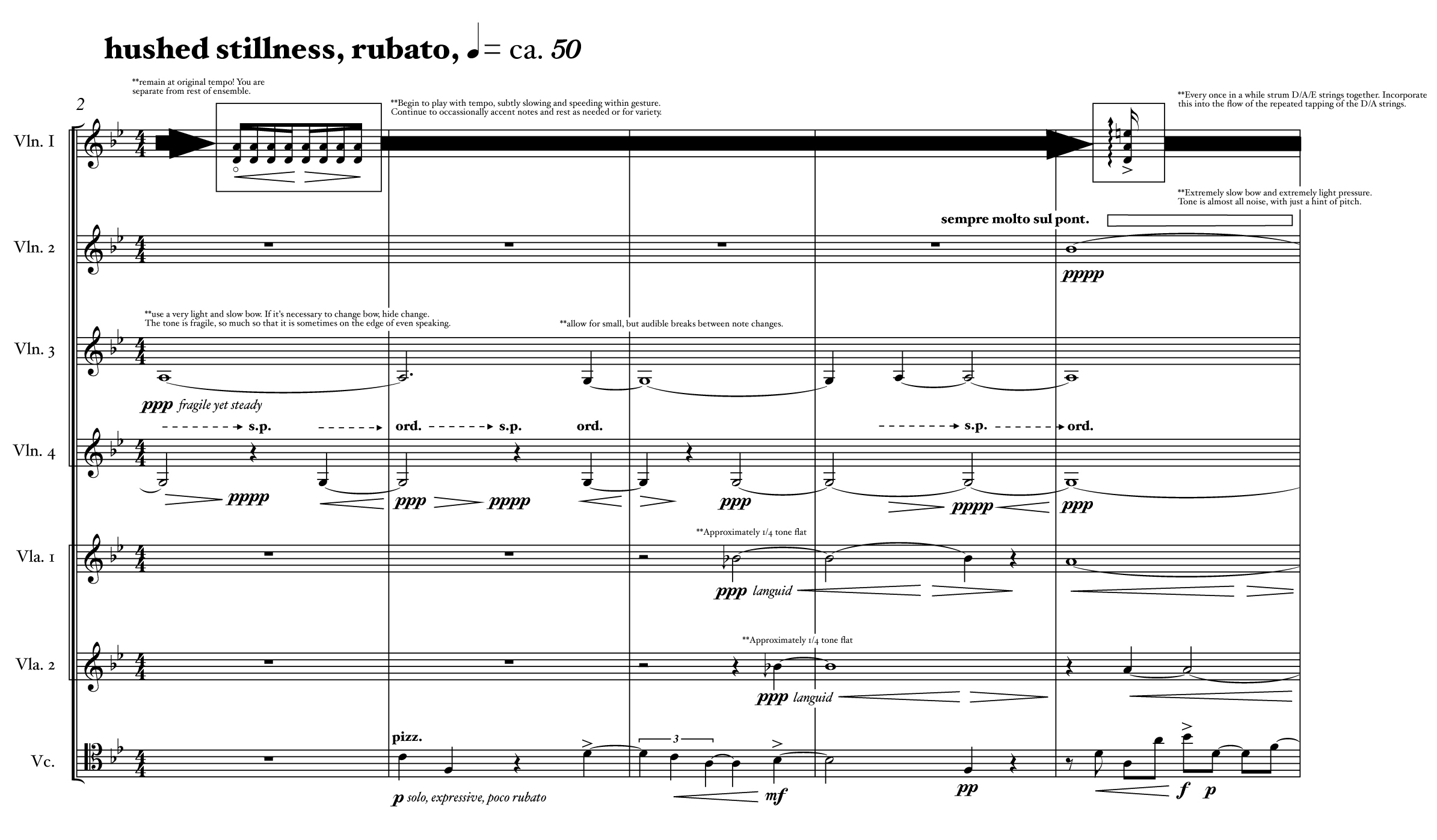 An excerpt from the score for Robert Honstein's Three Night Scenes from the Ospedale (2011)