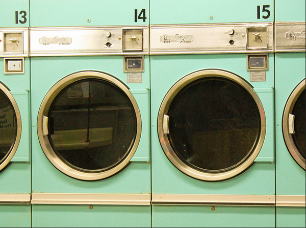 sequence of old Coinslot washing machines