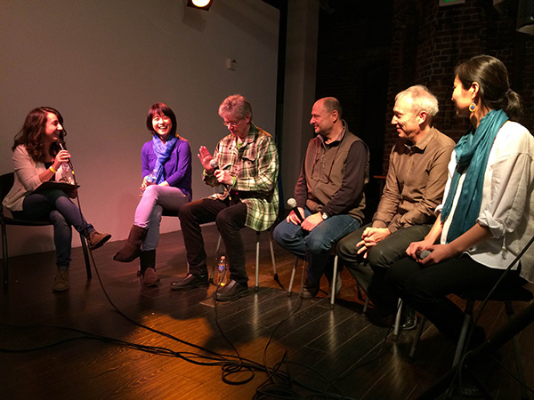 Kronos Quartet and Wu Man talk about their years together, with moderator Mary Kouyoumdjian.