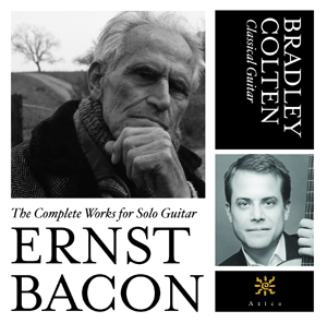 CD cover featuring a photo of Ernst Bacon in the upper left corner and Bradley Colten in the lower right corner.