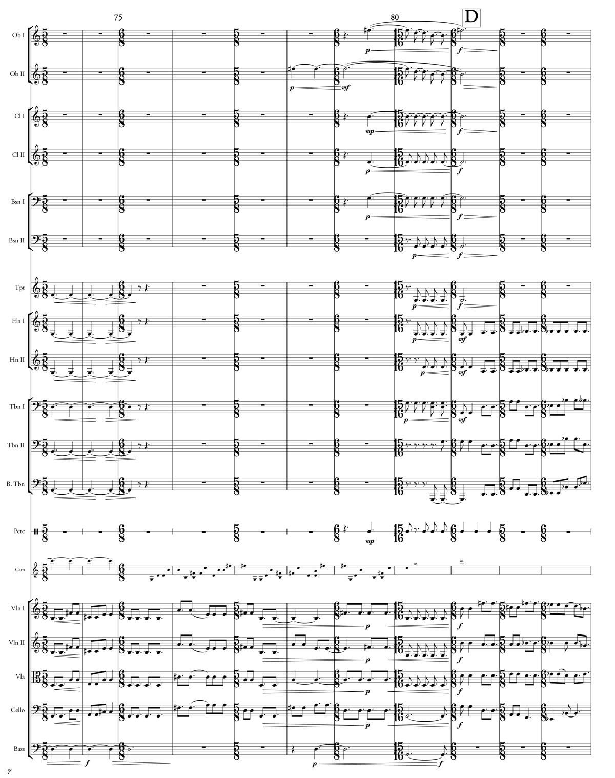A passage from Caroline Shaw's orchestral score for Lo