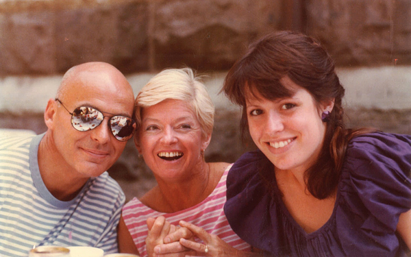 Tod Dockstader (wearing mirrorshades), wife Beverly and daughter Tina all smiling