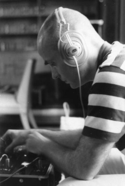 Tod Dockstader wearing headphones