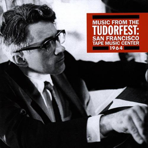 The cover of the CD booklet for New World Records' Tudorfest featuring a photo of David Tudor wearing a jacket and tie