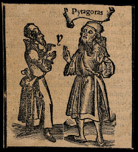 Pythagoras; woodcut from the Wellcome Library, London.