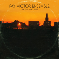 Th CD cover for Fay Victor's Freesong Suite, which is a twilght photo of an urban landscape, emulates the cover of an LP packed too tightly on a shelf