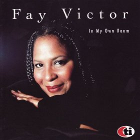 The cover for Fay Victor's CD In My Own Room featuring a photo of Fay Victor smiling