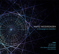 The cover of the CD In Convergence Liberation which is a  diagram of converging angles and spirals.