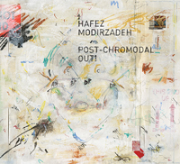 The cover of the CD Post-Chromodal Out! which is an abstract painting.