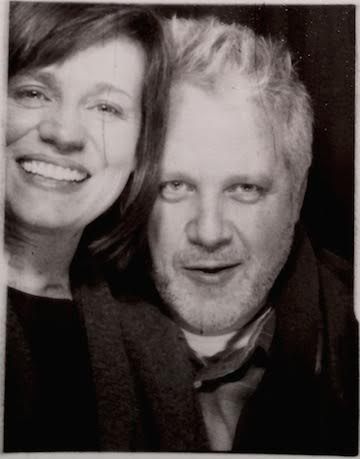 The composer and her husband, Bob Hullinger, in a photobooth this winter.