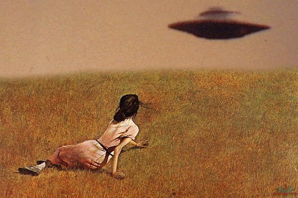 Christina's world meets UFO