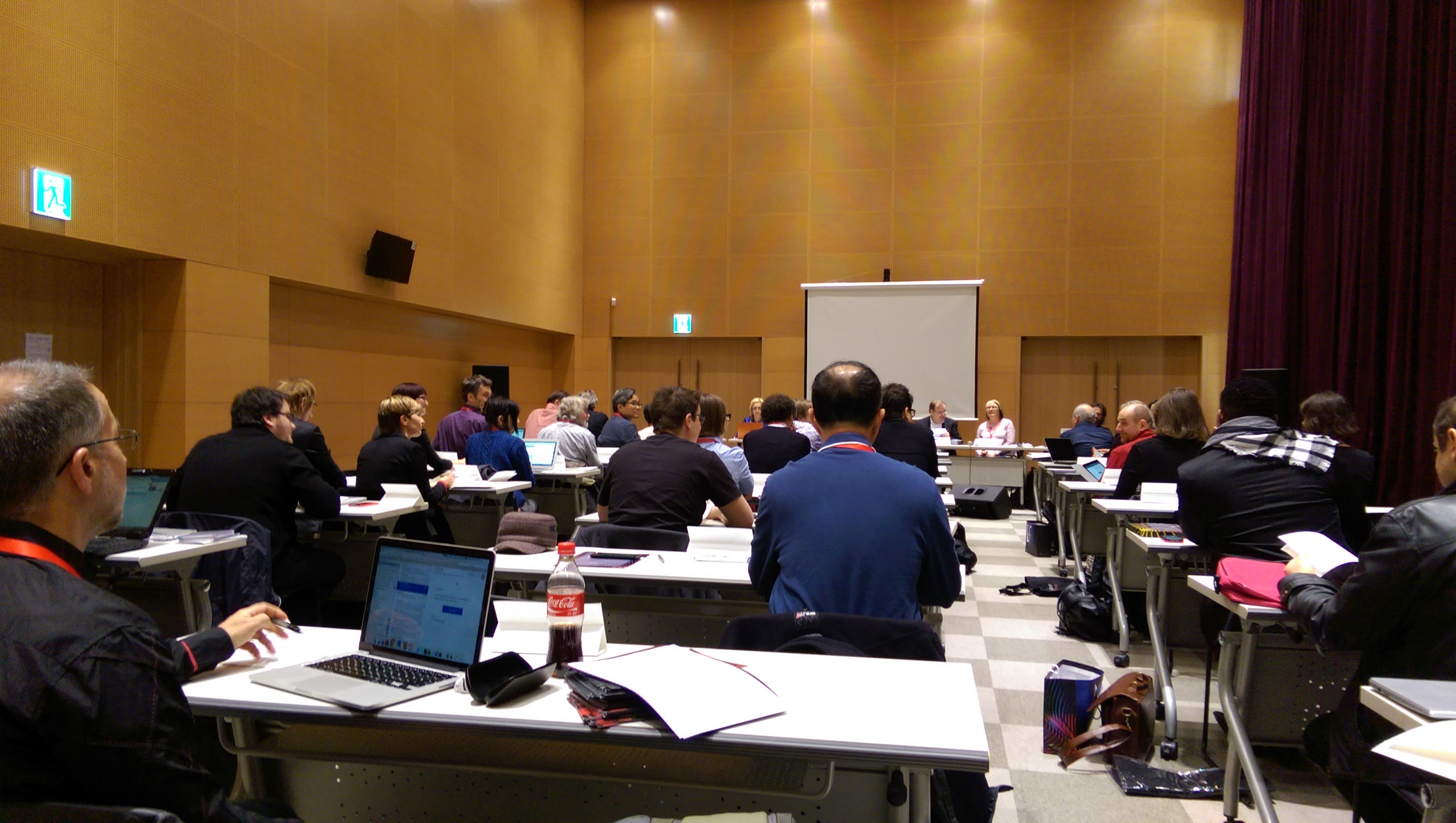 A General Assembly session of the ISCM in Tongyeong.