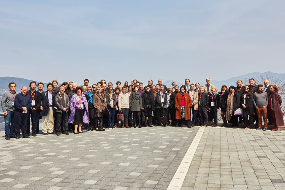 All of the 2016 ISCM Delegates standing outside the TIMF Concert Hall in Tongyeong, South Korea.