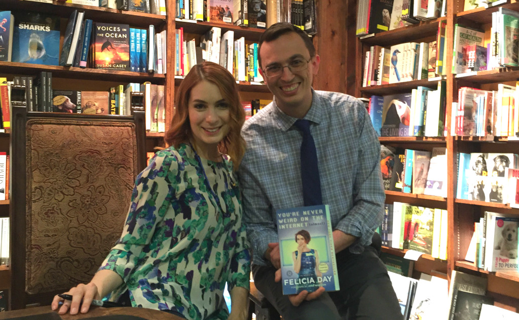Andy Lee meets Felicia Day at her book signing