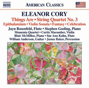 The cover for the 2015 Naxos American Classics CD of music by Eleanor Cory