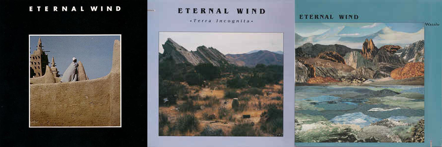 The covers for the three Eternal Wind LPs