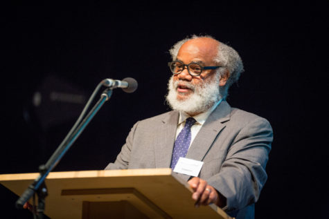 Jeffrey Mumford during his speech at the BBC Radio 3's Diversity and Inclusion in Composition Conference. Photograph © by Guy Levy, courtesy BBC.