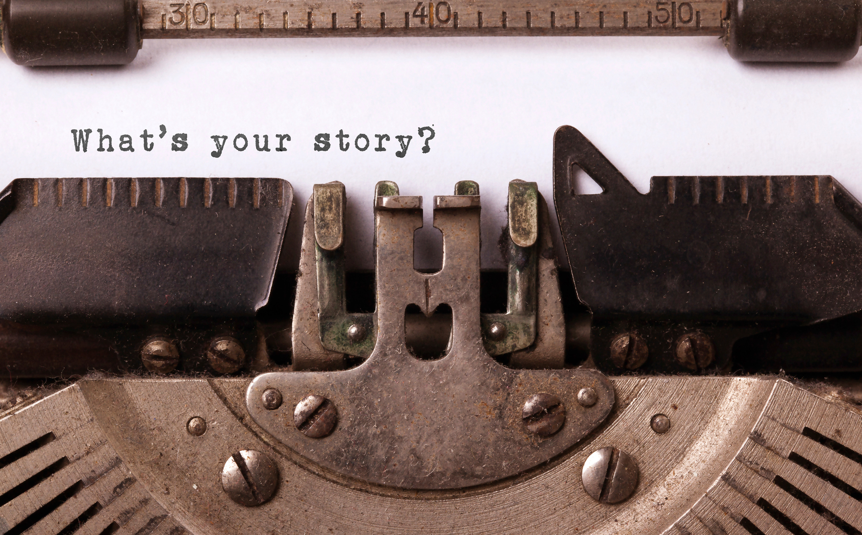 typewriter: what's your story?