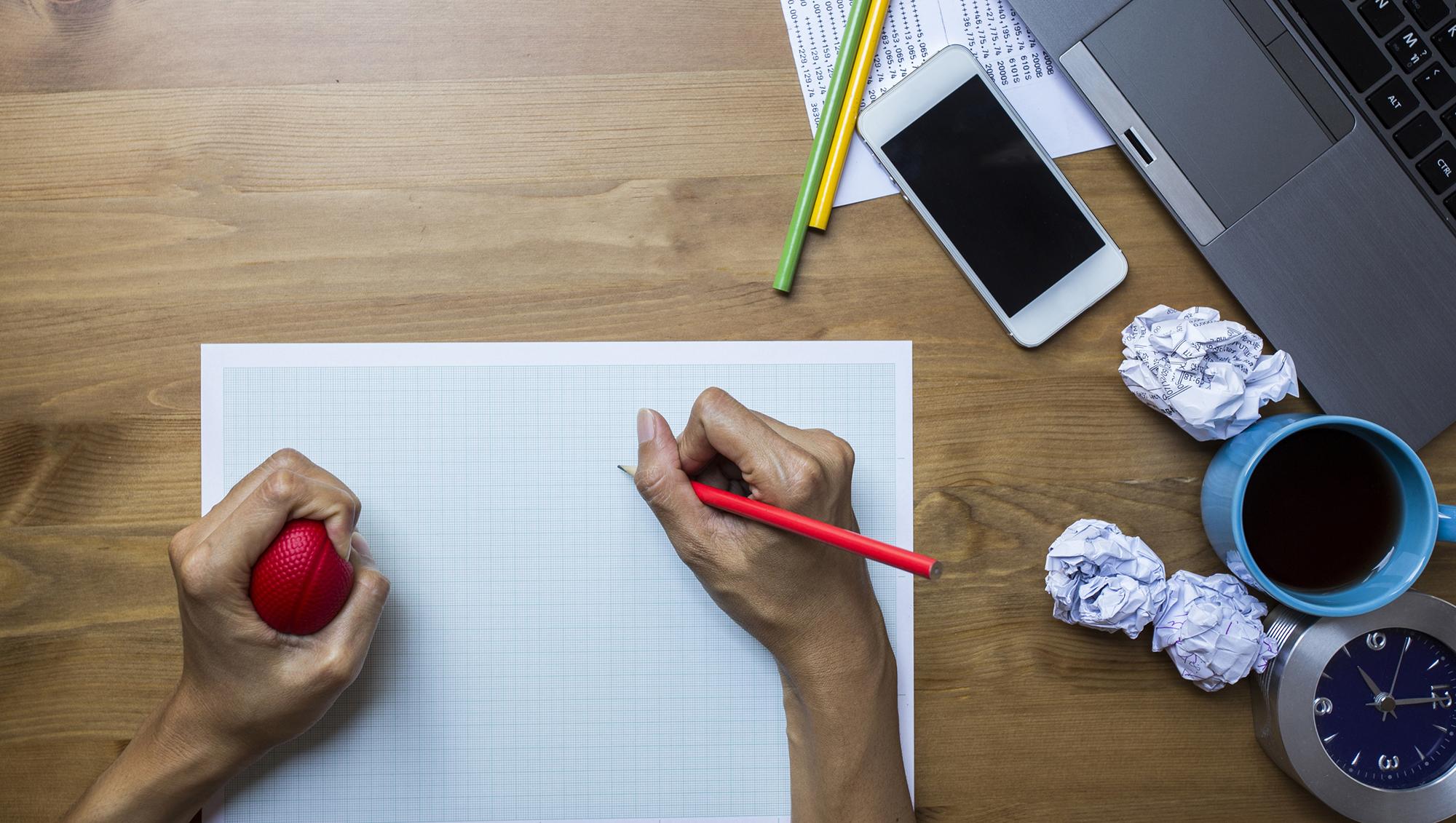 Writing stress